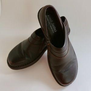 Josef Seibel Leather Clogs